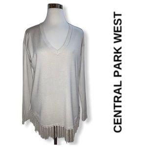 CENTRAL PARK WEST FRINGED SWEATER